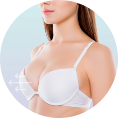 breast implant projection